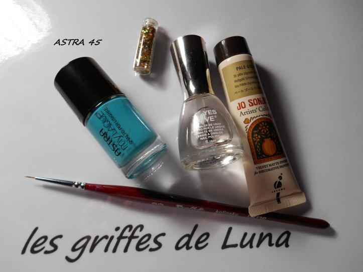 Nail art Turquoise & or materiel