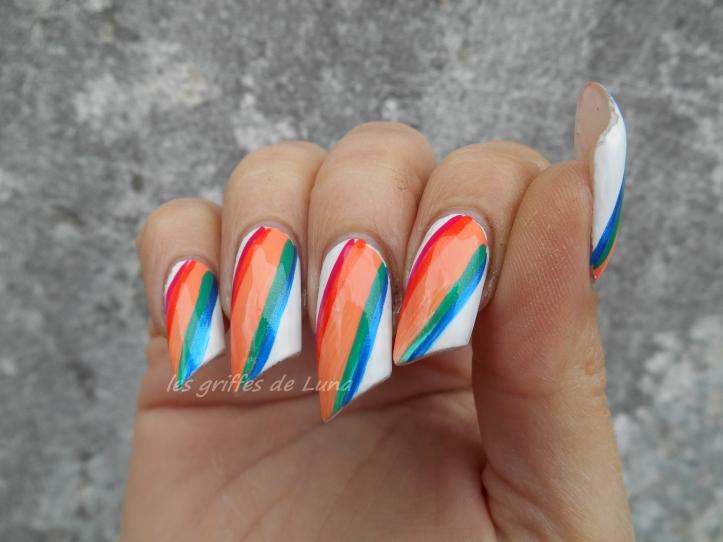 Nail art Arc-en-ciel 3