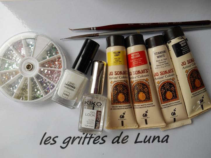 Nail art Cerisier en fleurs materiel