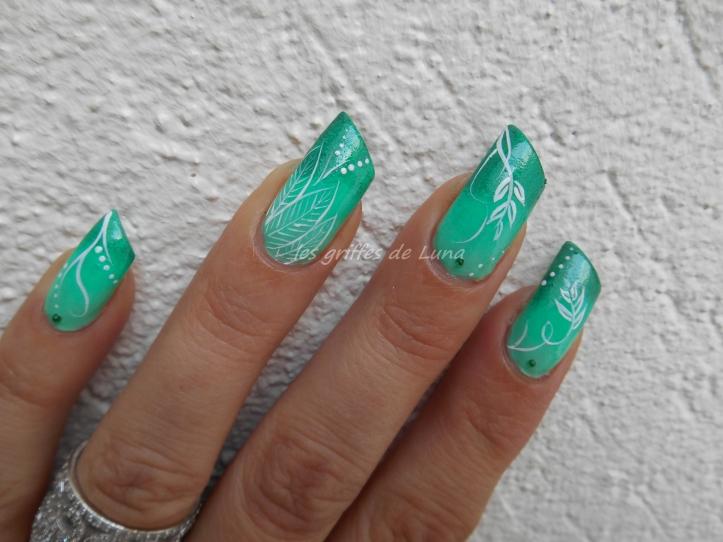 Nail art Dégradé de verdure 2