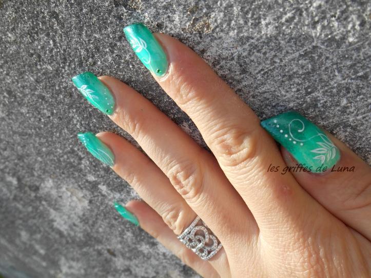 Nail art Dégradé de verdure 4