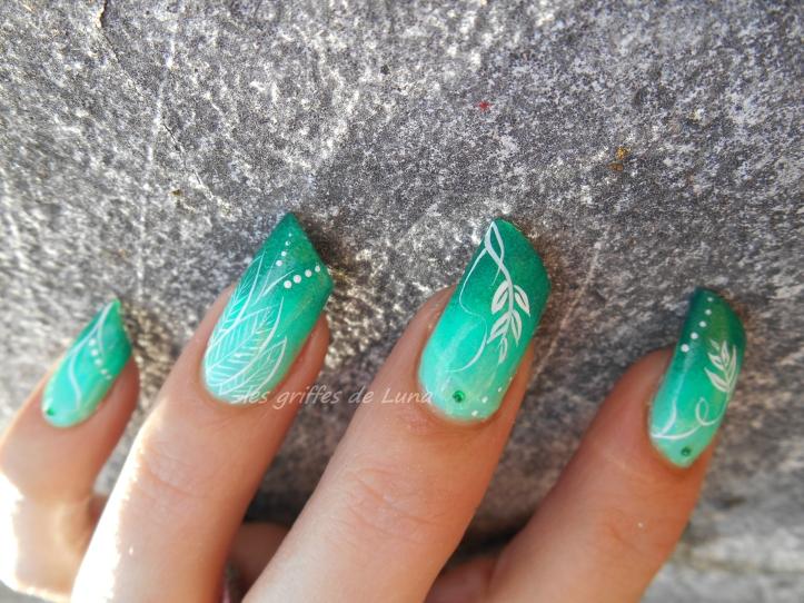 Nail art Dégradé de verdure 6