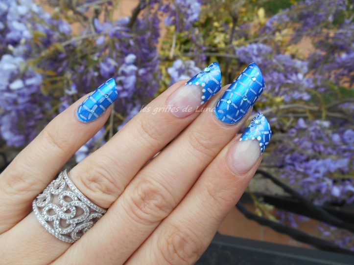 Nail art Graphic blue 2