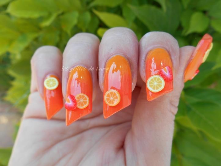 Nail art Coctail d'été 2