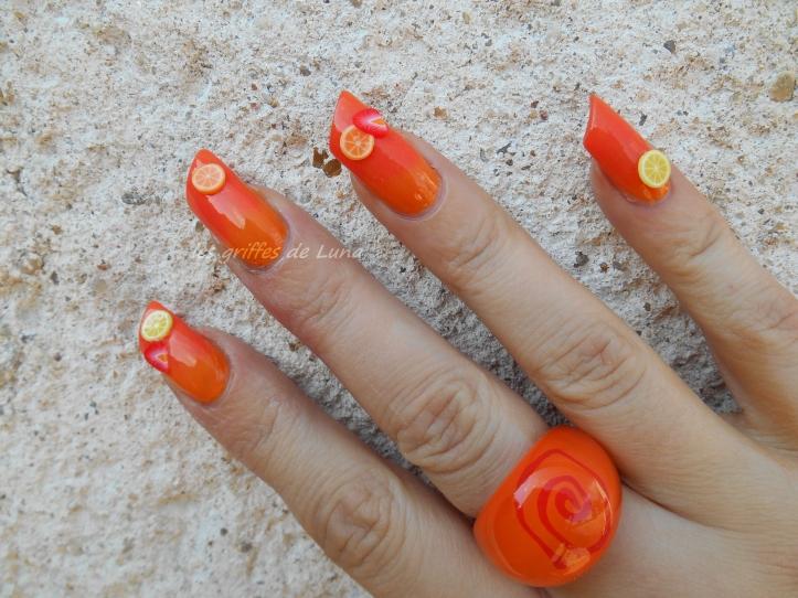 Nail art Coctail d'été 5