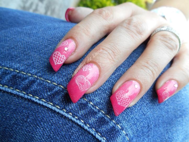 Nail art Coeurs en dégradé 3