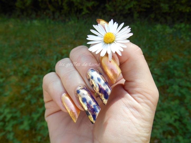Nail art Foil léopard 1