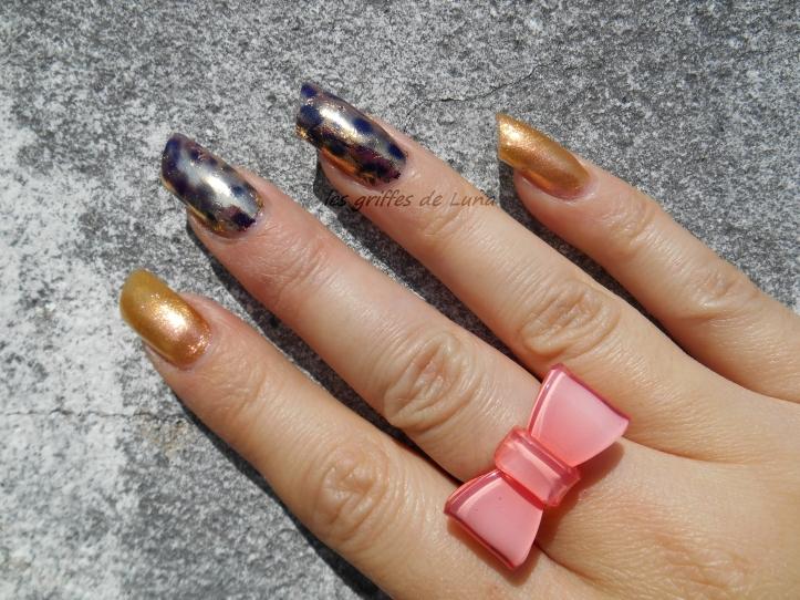 Nail art Foil léopard 4