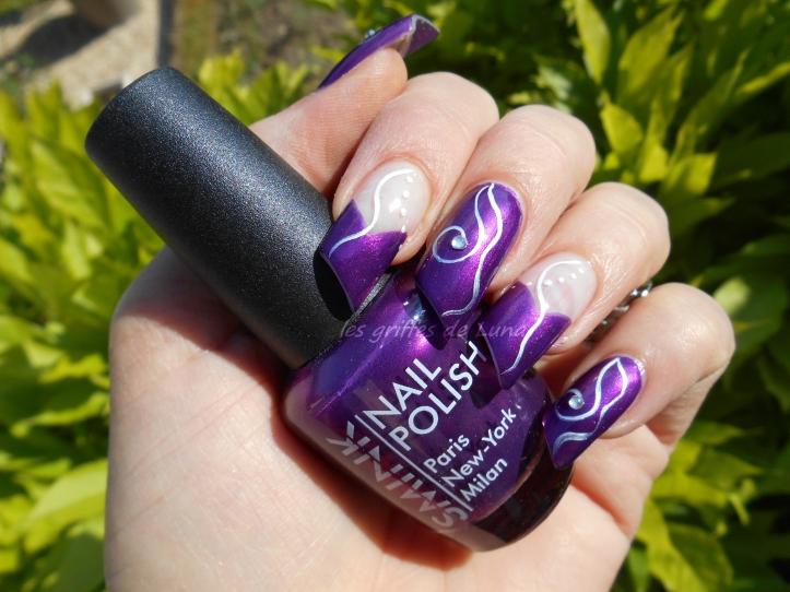 Nail art Purple abstract 2