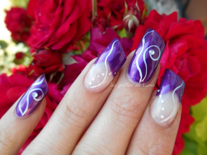 Nail art Purple abstract 3