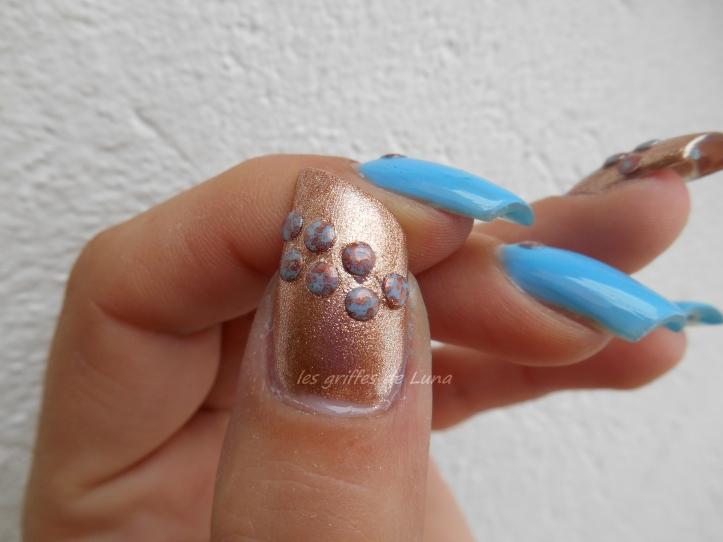 Nail art Blue vintage 2