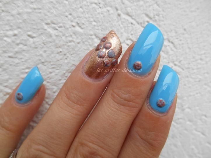 Nail art Blue vintage 4