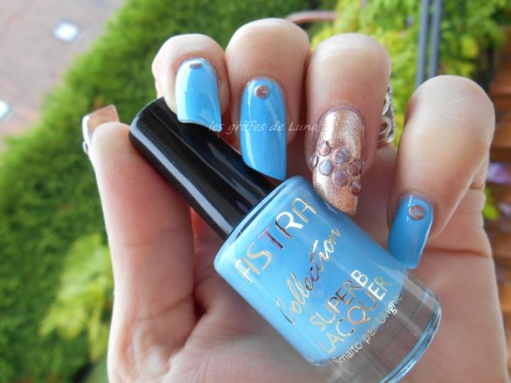 Nail art Blue vintage 6