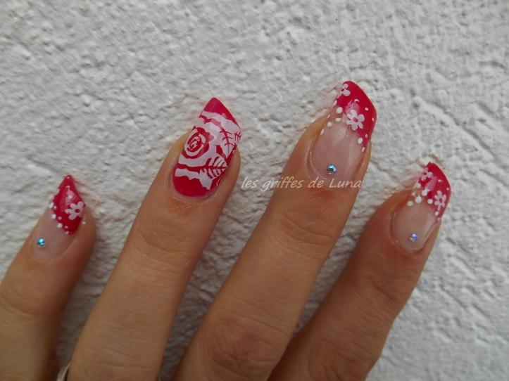 Nail art Biarritz romantique 1