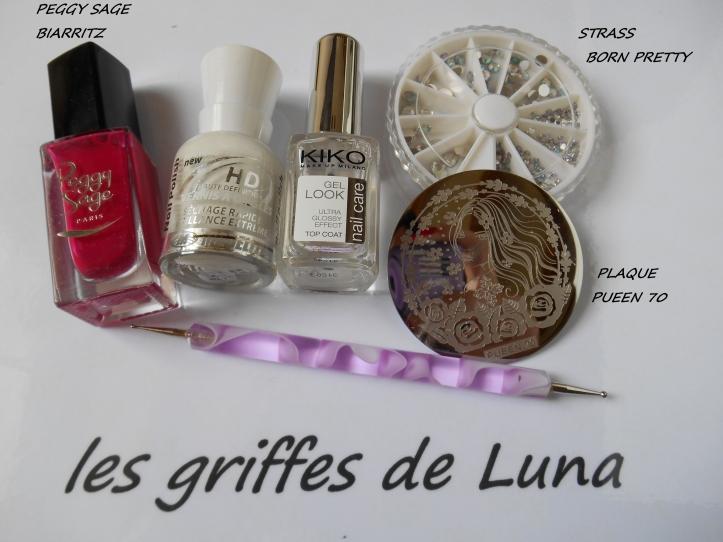 Nail art Biarritz romantique materiel