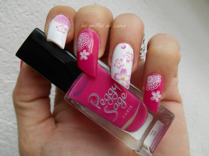 Nail art Girly Flowers 1