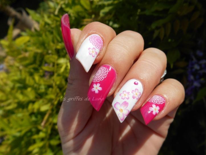 Nail art Girly Flowers 2
