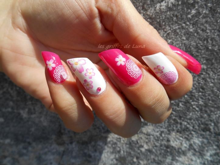 Nail art Girly Flowers 3