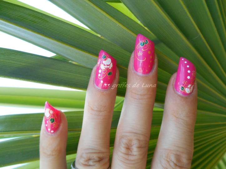 BARRY M Pink punch & WD fleuris 1