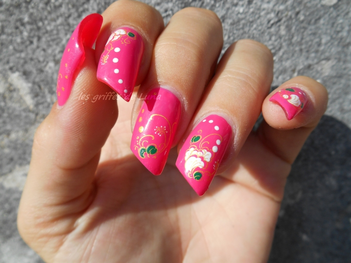 BARRY M Pink punch & WD fleuris 2