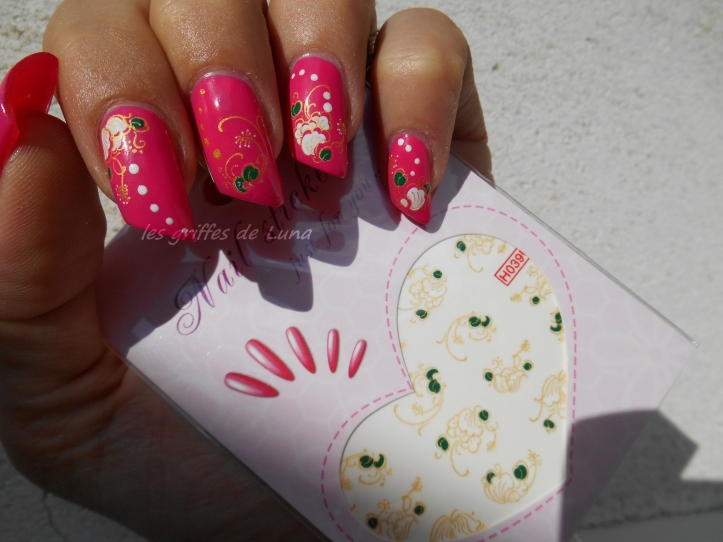 BARRY M Pink punch & WD fleuris 3
