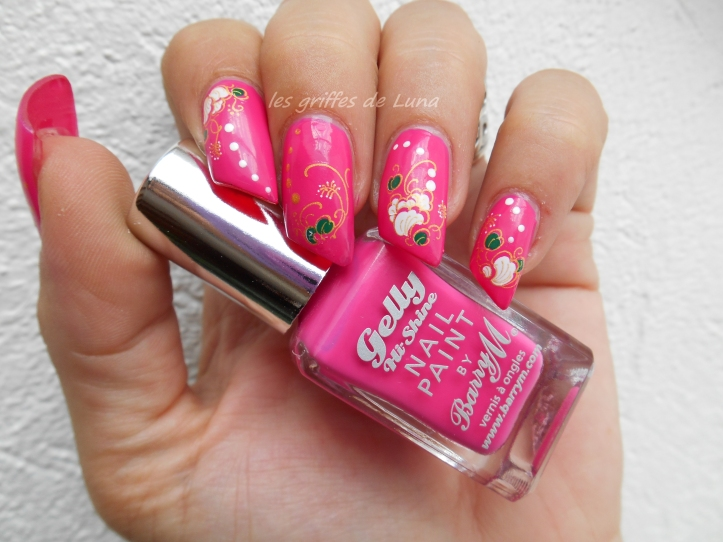 BARRY M Pink punch & WD fleuris 4