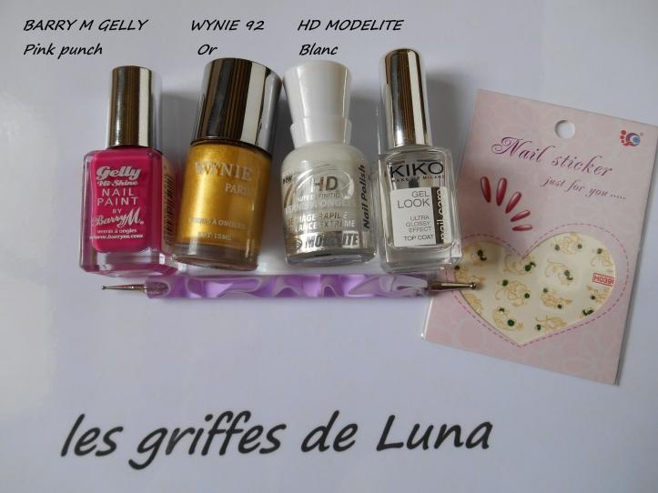 BARRY M Pink punch & WD fleuris matèriel