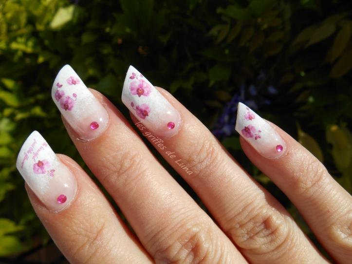 Nail art Orchidées 2