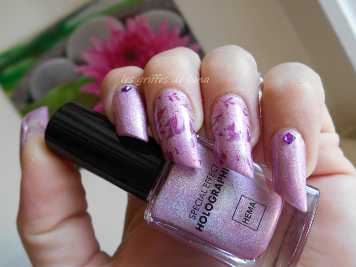 Nail art Stamping automnal 1