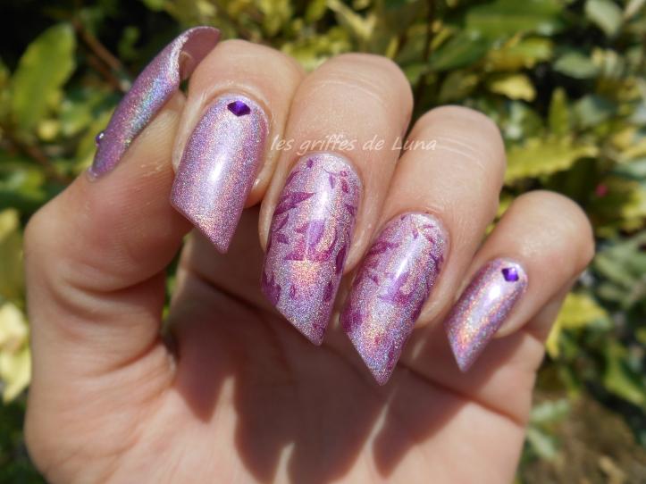 Nail art Stamping automnal 3