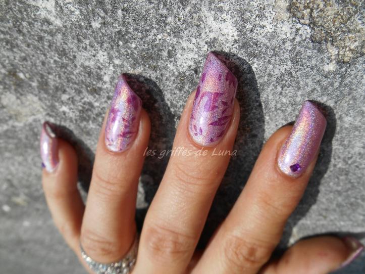 Nail art Stamping automnal 4