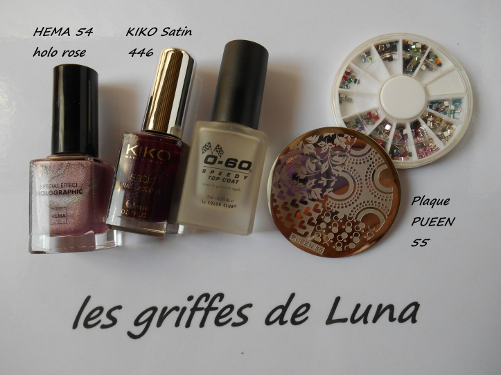 Nail art Stamping automnal materiel