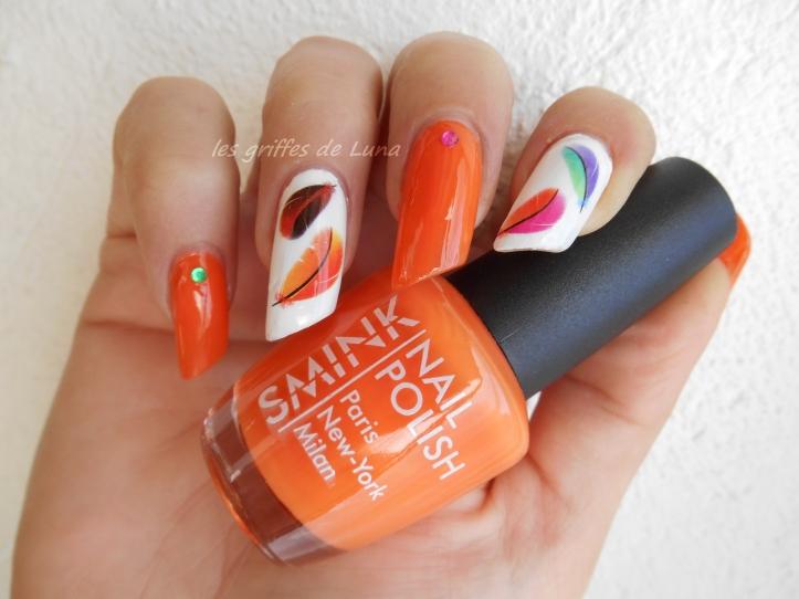 Nail art Plumes d'été 5