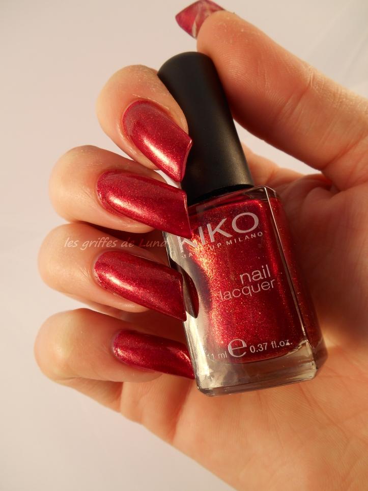 KIKO493 rouge pailleté 1