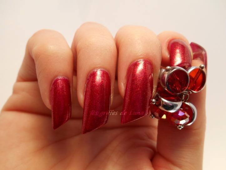 KIKO493 rouge pailleté 2
