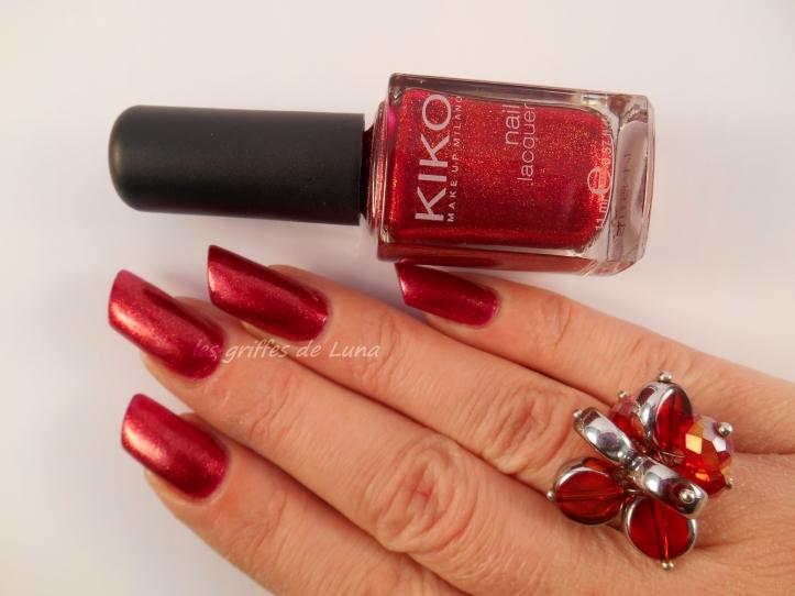 KIKO493 rouge pailleté 3