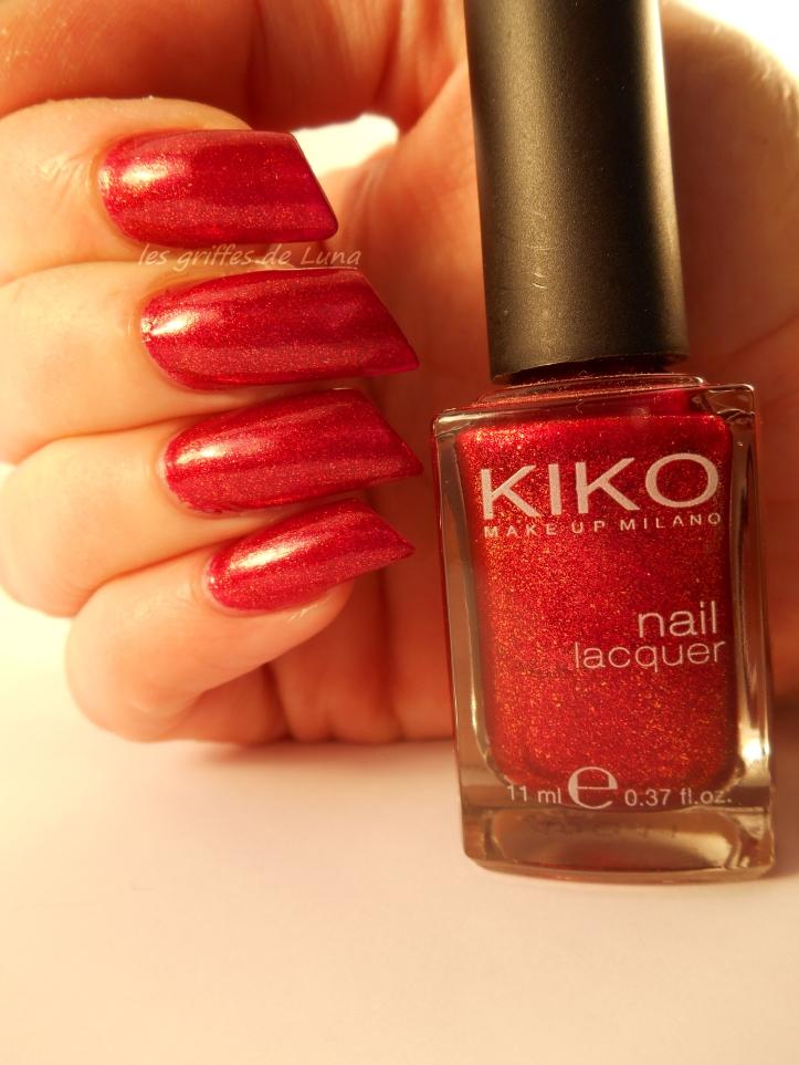 KIKO493 rouge pailleté 4