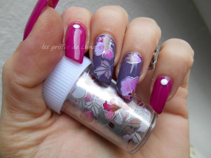 Nail art Foil automnal 2