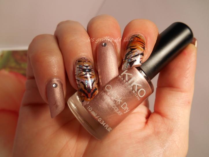 Nail art Foil tigre 1