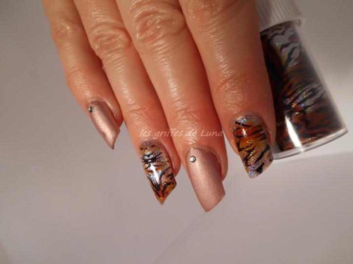 Nail art Foil tigre 2