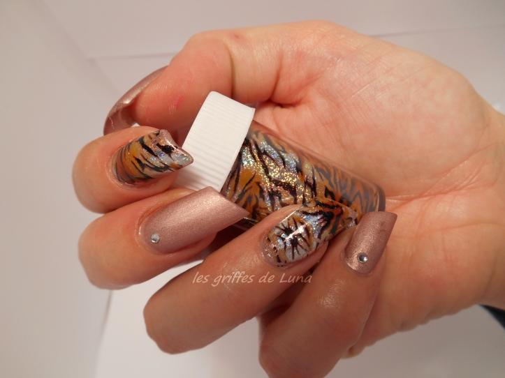 Nail art Foil tigre 3