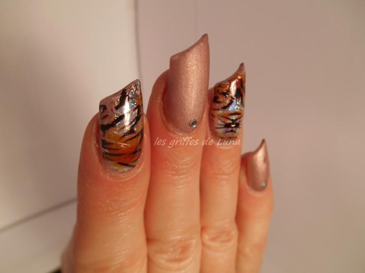 Nail art Foil tigre 4