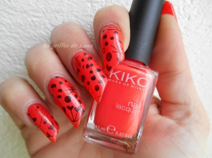 Nail art Stamping orange 1