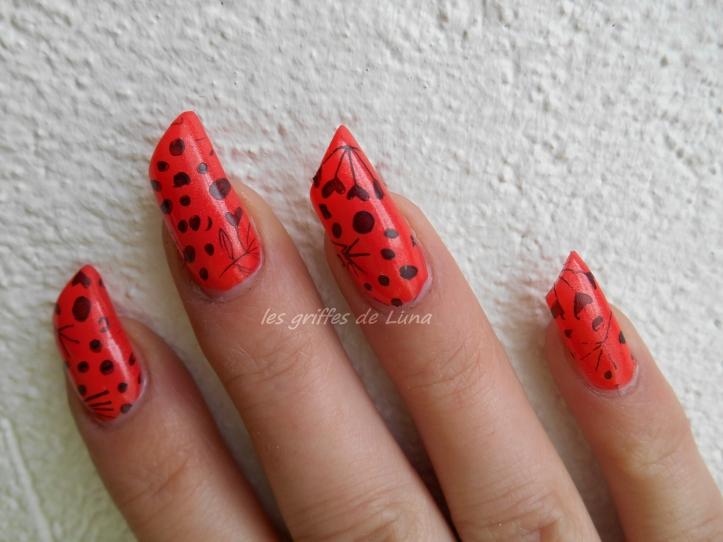 Nail art Stamping orange 2