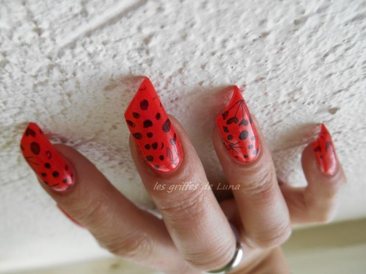 Nail art Stamping orange 3