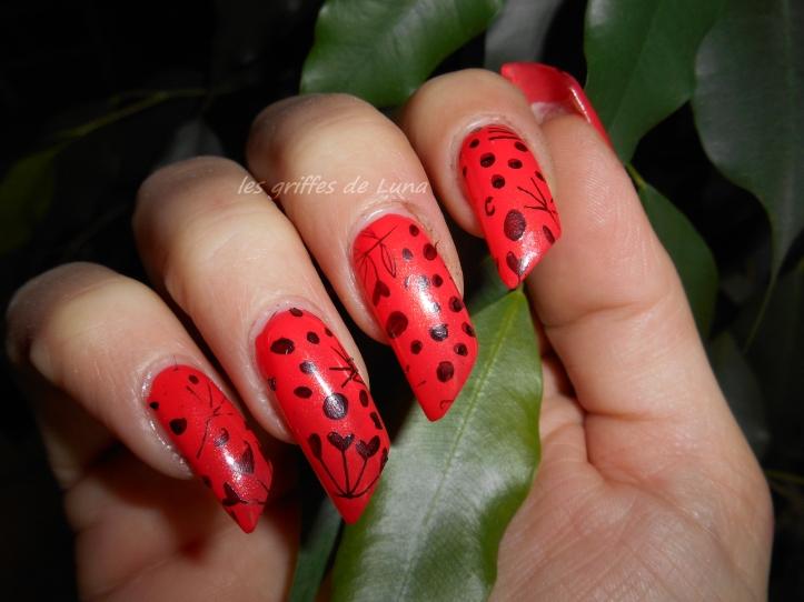 Nail art Stamping orange 4
