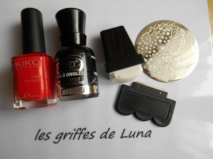 Nail art Stamping orange materiel