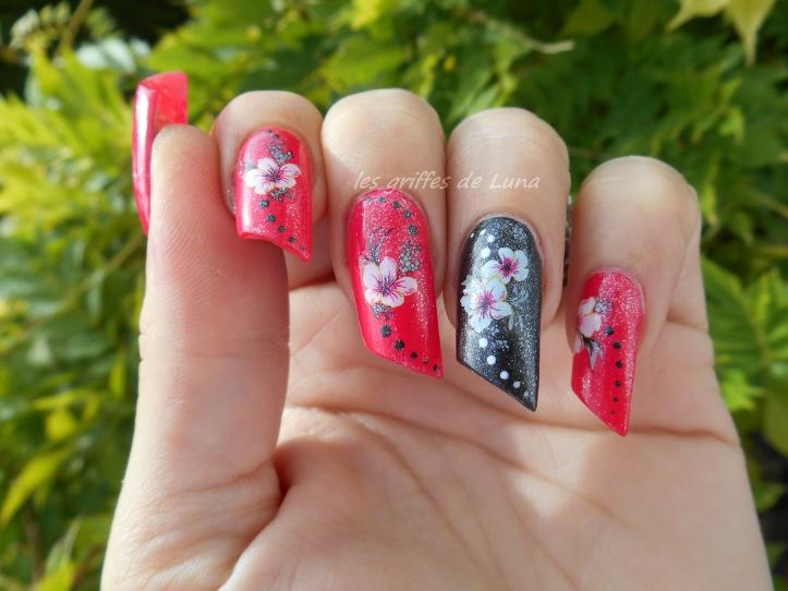 Nail art KIKO 283 & WD fleurs 1