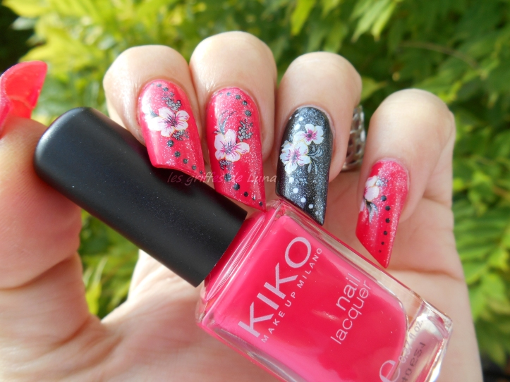 Nail art KIKO 283 & WD fleurs 4