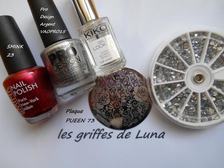 Nail art Romantique materiel
